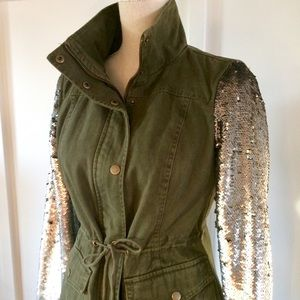New York and Company sequined military jacket